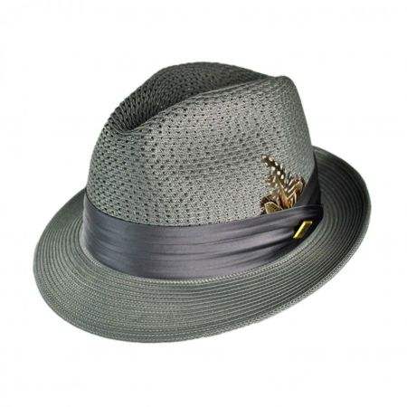 Stacy Adams Vented Crown Fedora Hat